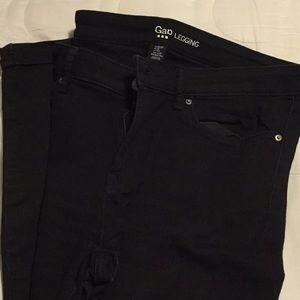 Black Gap legging jeans